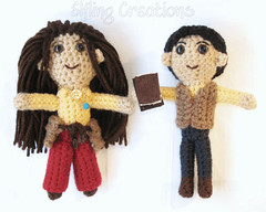 Two crocheted plushies - Nissa and Madoc