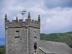 Hawkshead, Lake District (DaveJC90) Tags: park old blue light sky cloud sun sunlight mountain lake holiday classic church landscape nationalpark village view hill lakedistrict august national viewpoint skiddaw lakedistrictnationalpark hawkshead whinlatter