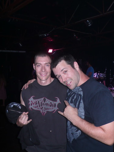 Me and one of my favorite electric guitarists, Andy Godwin (The Famine)