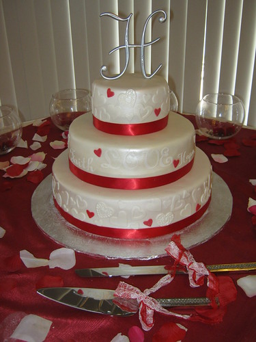 Hearts Wedding Cake by Cake Maniac