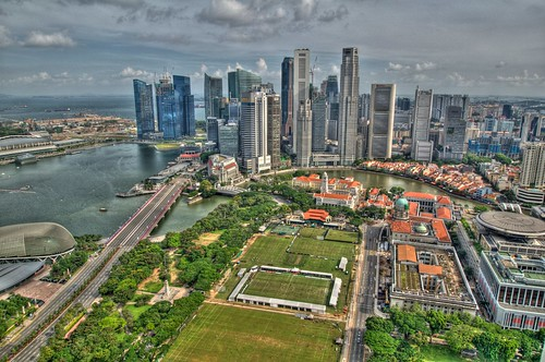 Singapore City Skyline HDR