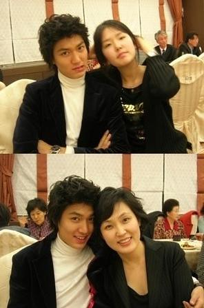 lee min ho hermana y madre