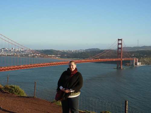 Andrea at the Golden Gate Bridge