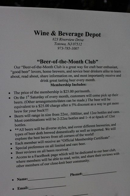6045885931 cce6e5ce61 z Wine & Beverage Depot Beer of the Month Club