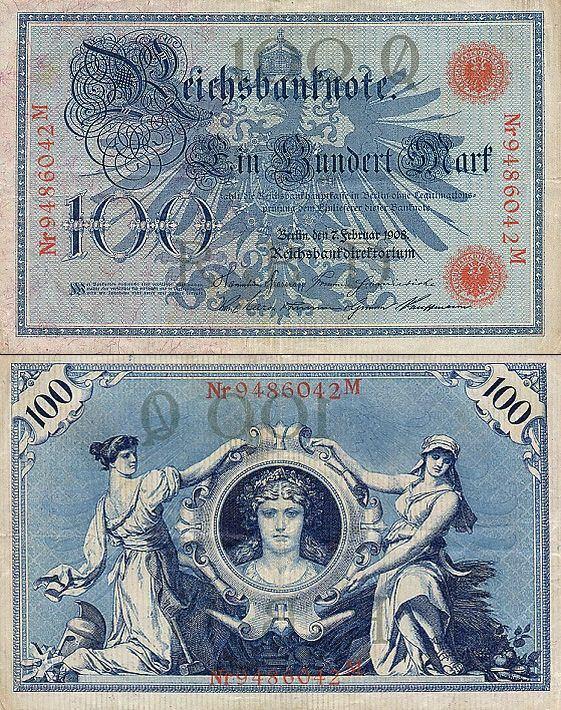 100 Mariek Nemecko 1908, Pick 33