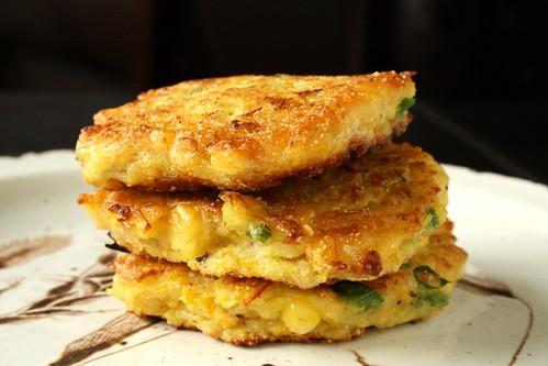 Food Network Magazine's Zucchini-Corn Fritters