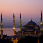 Blue mosque at dawn