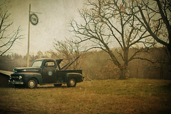 Pure Nostalgia (evanleavitt) Tags: county old ford texture fog rural truck ga georgia darkness decay south country atmosphere pickup gas southern nostalgia madison american oil nostalgic americana weathered pure tow the