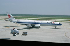 Airbus A340-300 (hugh llewelyn) Tags: all transport types airchina shanghaiairportairbusa340300