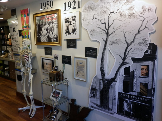 The Kiehl's history wall