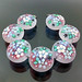 Pikalda : Handmade lampwork glass beads SRA =Somewhere Garden=
