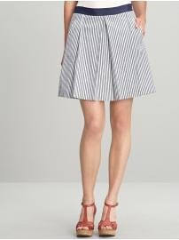 BR Striped Box pleat skirt 0P