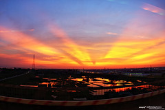 Sunset (mr.milivista) Tags: sunset landscape riverside fisheye vietnam hanoi songhong canoneos40d thanglongbridge canonef15mmf28fisheyemilivista