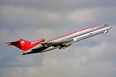 N285US Boeing 727-251 Northwest Airlines MIA 27JAN99 (Ken Fielding) Tags: airplane aircraft jet boeing airliner northwestairlines jetliner trijet b727251 n285us