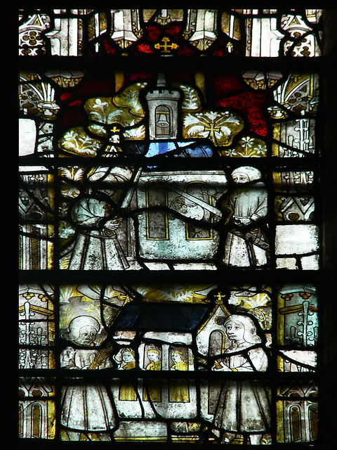 medieval stained glass, Martyrdom of St Werstan