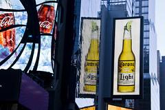 Have a Drink (I Redneck) Tags: ny newyork beer yellow canon drink coke corona timessquare cocacola birra rednecks luminarie insegne bibita haveadrink eos1000d