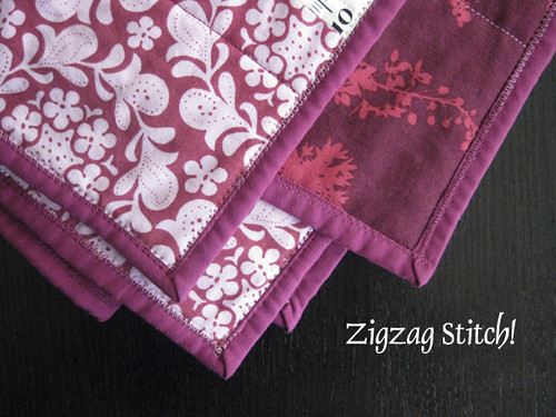 Stitched zigzag!