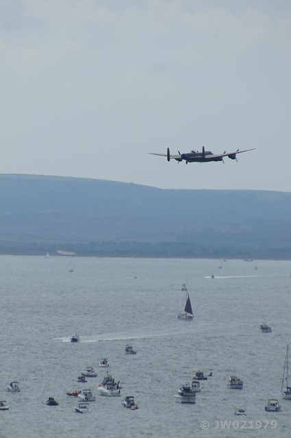 Lancaster over Poole Bay