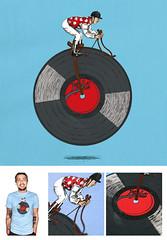 Disc Jockey - Edité par La fraise (Julien Croyal) Tags: shirt illustration la julien drawing contest jockey disc tee fraise lafraise croyal