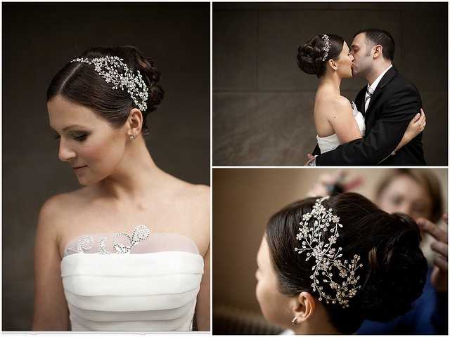 crystal bridal headpiece, bridal headband with vines and flowers, glam bridal hair comb, classic bridal veil, romantic bridal accessories