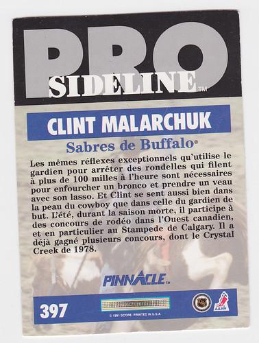 Sideline - Malarchuk back