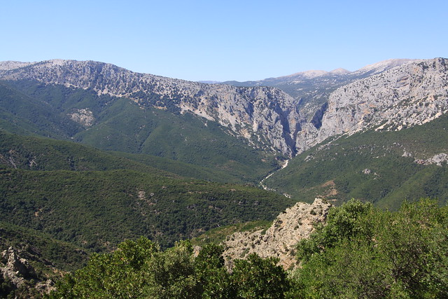 Looking down the majestic Gola su Gorruppu (gorge)...