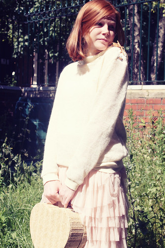 Queens Of Sounds White knit jumper - Elle