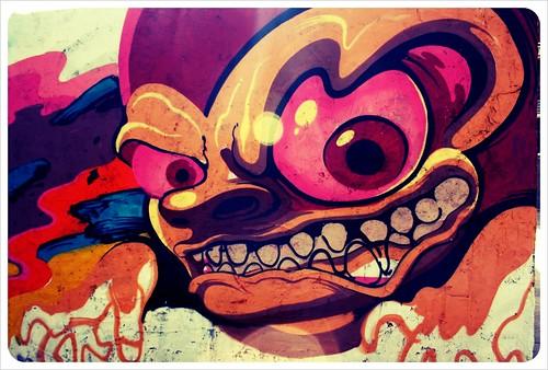 valencia street art face