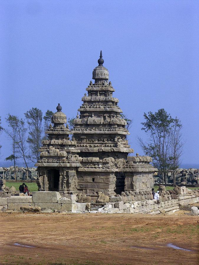 Береговой храм Алайваякойл. Мамаллапурам (Махабалипурам), Тамил Наду, Индия © Kartzon Dream - авторские путешествия, авторские туры в Индию, тревел видео, фототуры