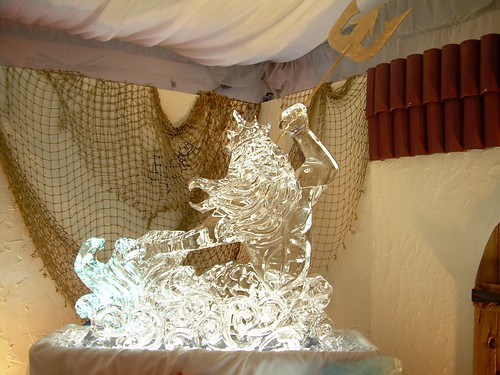Poseidon ice sculpture