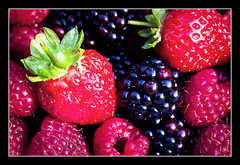 Summer fruits.