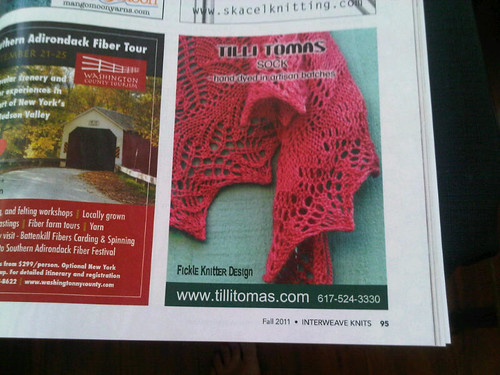 IK Fall Tilli Tomas Ad with Fickle Knitter Design