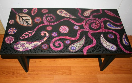 Vintage Coffee Table Makeover by Rick Cheadle Art and Designs
