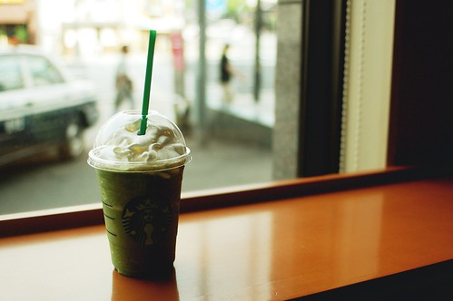 matcha soy frappuccino.