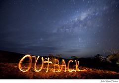 Outback Australia - explore (john white photos) Tags: longexposure sky night writing stars fire sticks flames australian australia southern outback remote southaustralia milkyway eyrepeninsula gawlerranges