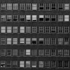 this photo has no title (clay.wells) Tags: windows summer white black building monochrome canon square lens photography eos office louisiana pattern state zoom clayton july wells structure crop usm ef 1740mm shreveport repitition 2011 f4l 40d img2453c thepinnaclehof tphofweek186
