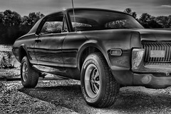 1968 Cougar HDR Black and White (Ryan Kidd Photography) Tags: blackandwhite white black car photography ryan 1968 kidd process cougar processed hdr hdrcar ryankidd blackandwhitehdr ryankiddphotography