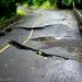 Hurricane Irene effects - buckled road