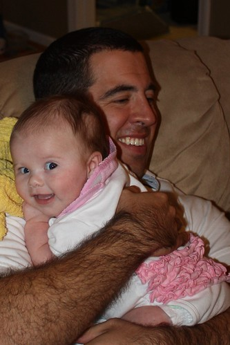 Lucy loves snuggling with her Uncle Chris