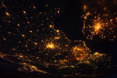 Europe at Night (NASA, International Space Station, 08/10/11) [Explored] (NASA's Marshall Space Flight Center) Tags: brussels italy paris france milan london netherlands amsterdam europe belgium unitedkingdom nasa englishchannel internationalspacestation stationscience crewearthobservation stationresearch