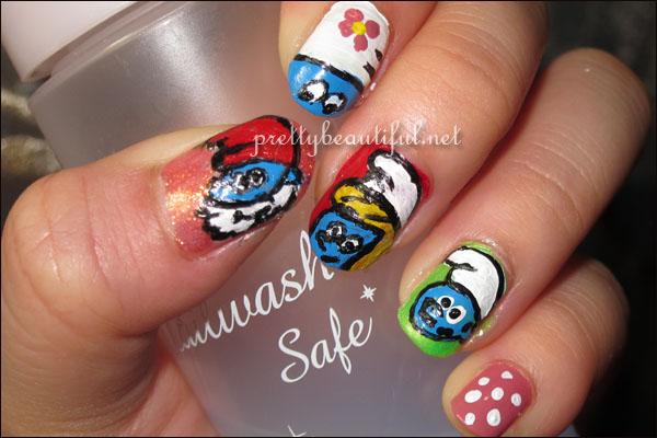 Smurf Nail Arts
