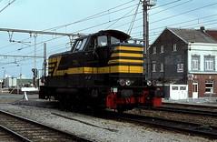 7394  Liers  29.04.78 (w. + h. brutzer) Tags: analog train nikon eisenbahn railway zug trains locomotive 77 belgien lokomotive diesellok eisenbahnen sncb dieselloks webru