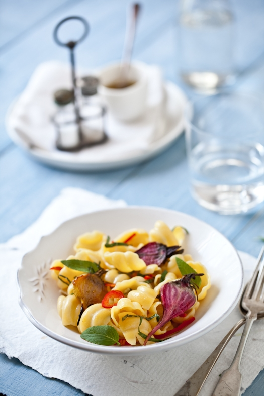 Conchiglie With Roasted Beets & Basil  © Helene Dujardin 2011