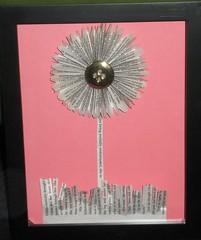 Flirty Flower in a Shadow Box