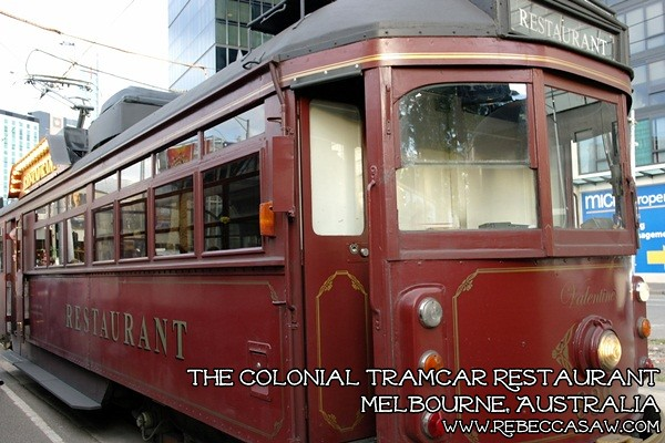 the colonial tramcar restaurant Melbourne-10