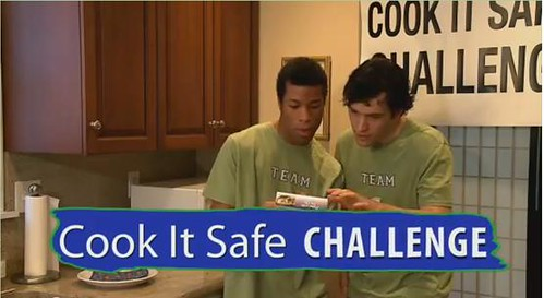 The Cook It Safe campaign urges consumers to read and follow package cooking instructions to prevent undercooking and possible foodborne illness, as shown in this public service announcement.