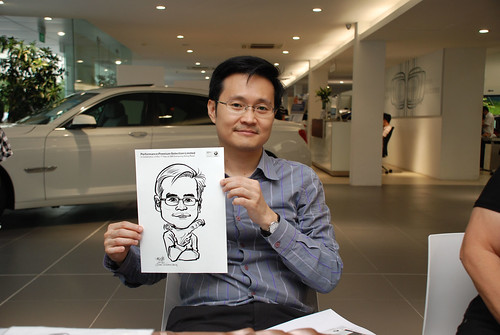 Caricature live sketching for Performance Premium Selection first year anniversary - day 2 - 26