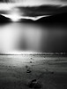 Mercurial ending (kenny barker) Tags: longexposure sunset bw water monochrome landscape scotland dusk loch lochearnhead artdigital saariysqualitypictures panasonicg1 daarklands sbfmasterpiece