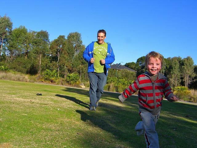 Run faster Daddy!