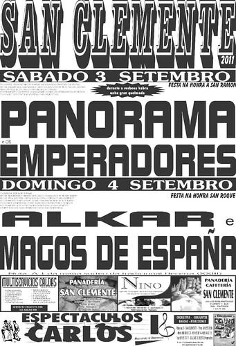 Caldas de Reis 2011 - Festas de San Ramón en San Clemente - cartel